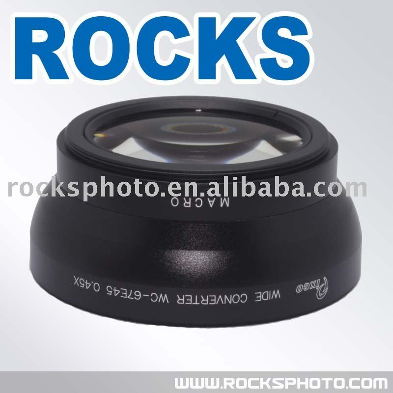 Фотография New Black Wholesale / Retail Free shipping PIXCO 67mm 0.45x WIDE Angle with Macro Conversion LENS