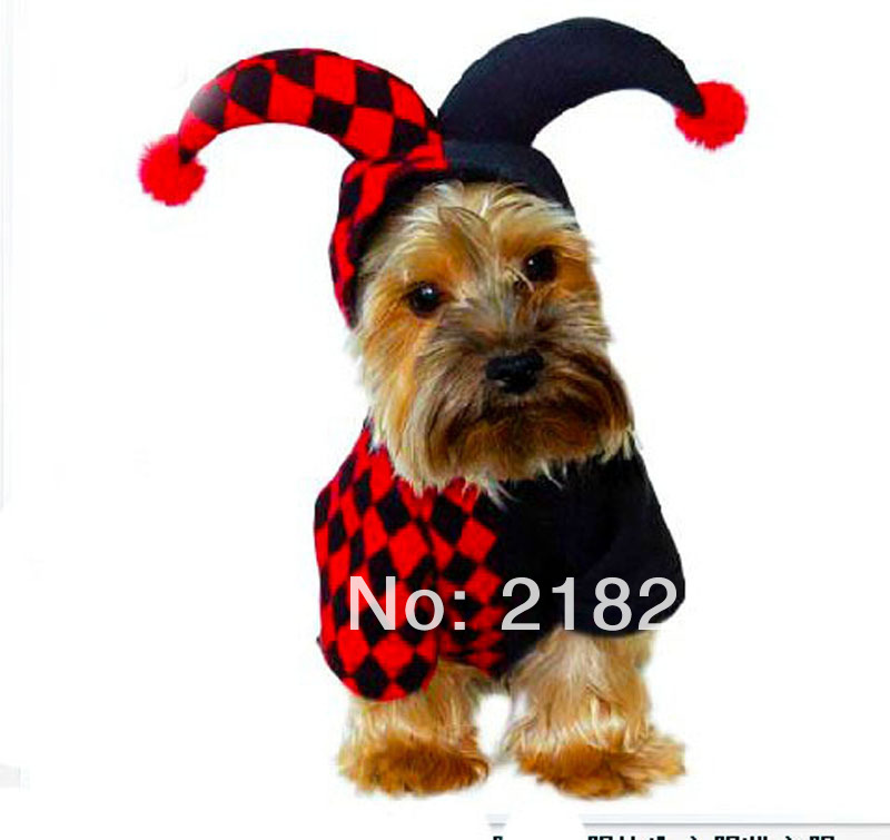 New Cute Dimensional clown play clothes Pet Dogs Coat Free Shipping By china post Dogs clothes(China (Mainland))