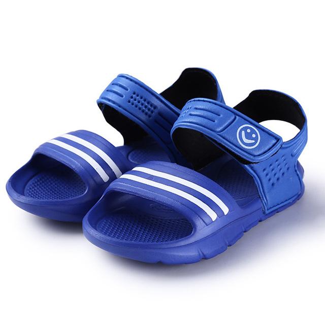 Новый летний 2016 детей сандалии скольжению износостойкие маленький мальчик случайные сандалии девушки парни обувь для детей летом сандалии