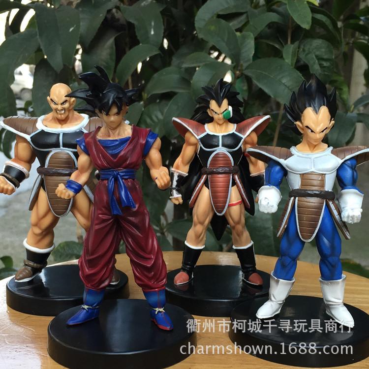 13cm 4pcs/set Dragon Ball Z Goku Vegeta Action Figure PVC Collection figures toys for christmas gift brinquedos<br><br>Aliexpress