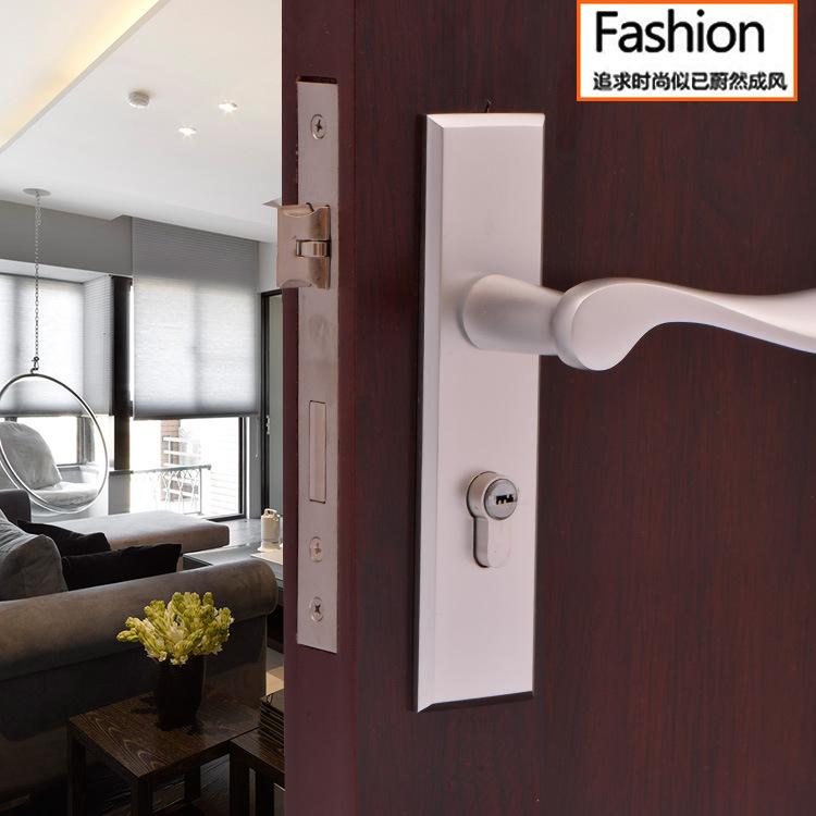 Wholesale manufacturers space aluminum door lock mechanical lock(China (Mainland))