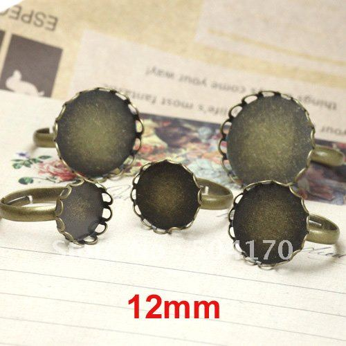 200pcs/lot 12mm Round Bronze Cameo Cab Base Ring Settings Jewelry Finding Free Shipping LQJ001-1<br><br>Aliexpress