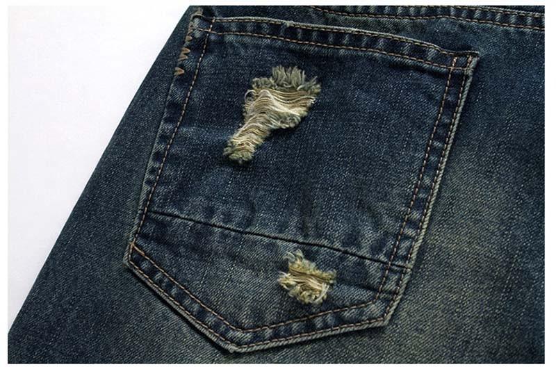 men denim shorts detail 5