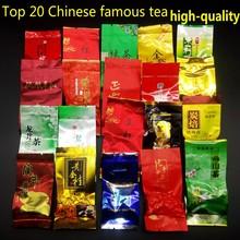20 Verschiedene Geschmack Chinesischen Tee, Pu er tee, Tieguanyin, Dahongpao, Grüner tee, Ginseng oolong, Longjing, Oolong-tee, Freies Verschiffen(China (Mainland))