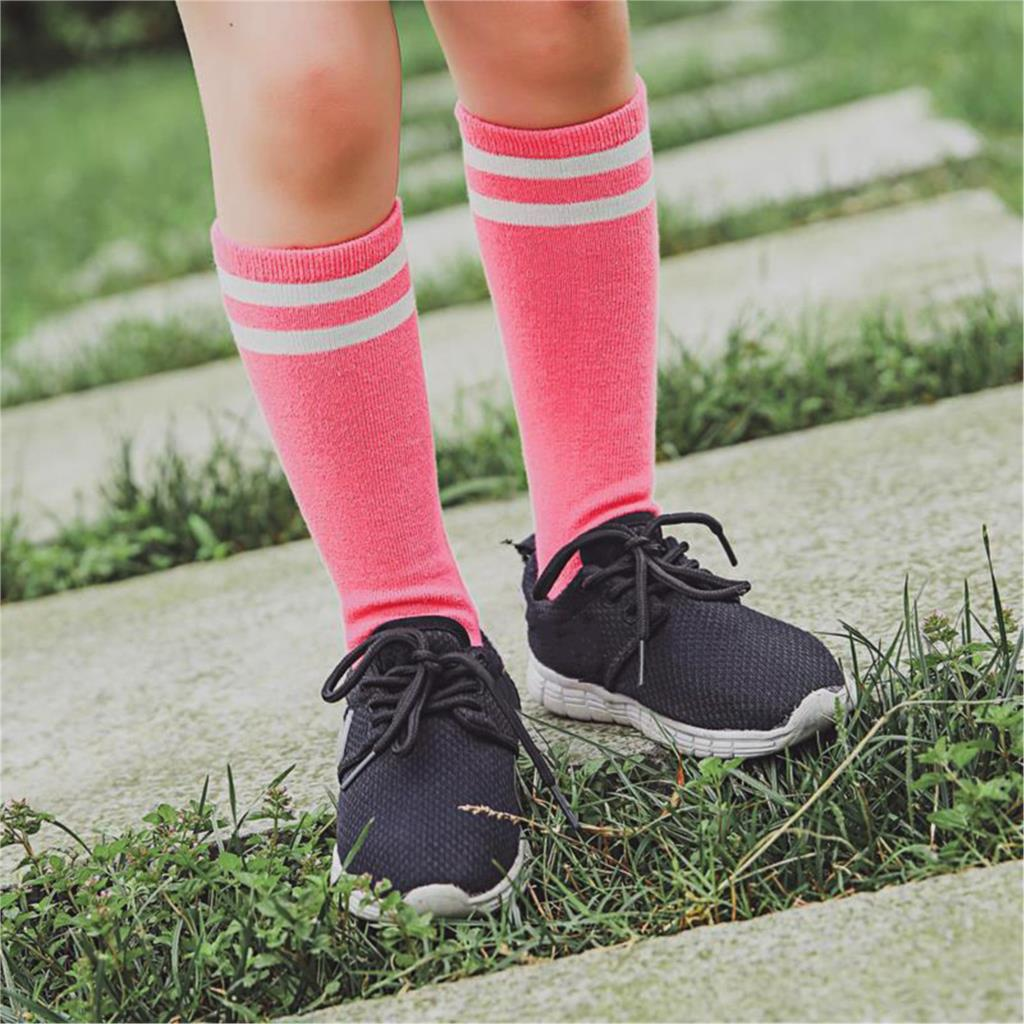 Striped Cotton Sport Kids Socks For Baby Girls Boys School Knee High Socks Leg Warmers Toddler 0-3 Years Clothing Accessories