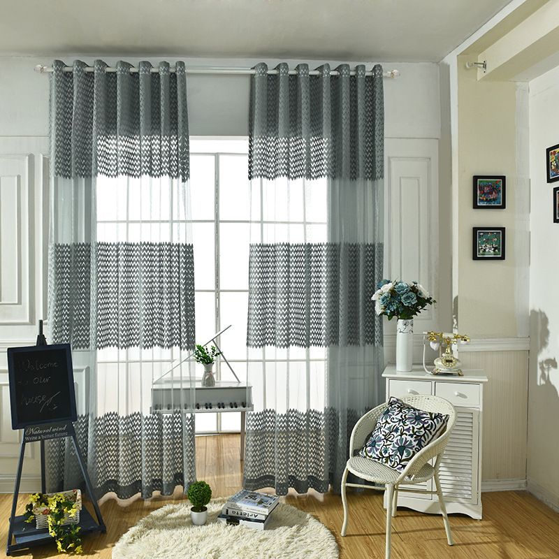 Gris chambre rideaux promotion achetez des gris chambre for Voilage moderne pour salon
