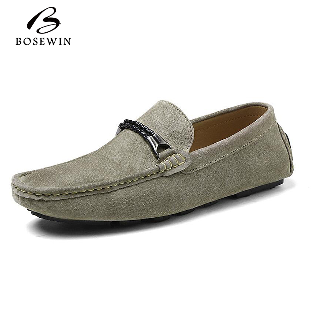 Фотография Fashion Men Lazy Shoes Soft Moccasins Men Loafers High Quality Genuine Leather Shoes Men