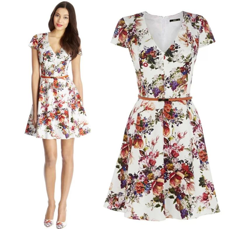 ladies floral dress with sleeves