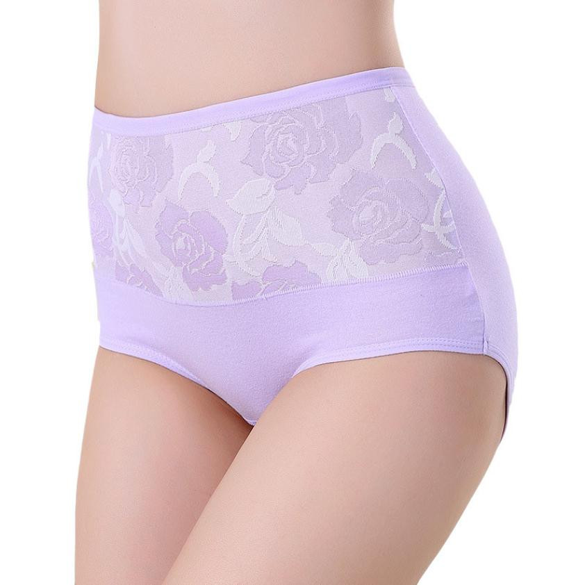 New Hot Selling Delicate High Waist Cotton Women Briefs Sexy Healthy Panties Underwear Plus Size L XL XXL Free Shipping