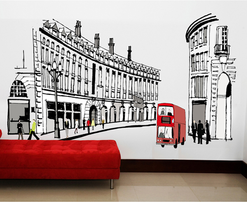 1pcs Rome City Landscape Vinyl Sticker Wall Decal Living Room Bedroom Fridge House Decor stickers muraux Poster Home Accessories(China (Mainland))
