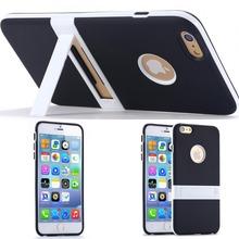 Новые конфеты цвет! Подставка мягкие TPU чехол для Apple , iphone 6 4.7 / плюс 5.5 ультратонких прекрасный задняя крышка отверстия логотип + тело подставка чехол