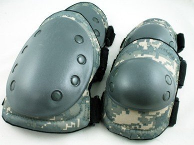 Paintball Airsoft Knee and Elbow Pads ACU