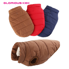 Buy Gloriour Kek Pet Clothes Large Dog Winter Warm Basic Dog Coat Jacket Small Big Dog Fleece Lining Ropa Para Perros XS-3XL for $8.49 in AliExpress store