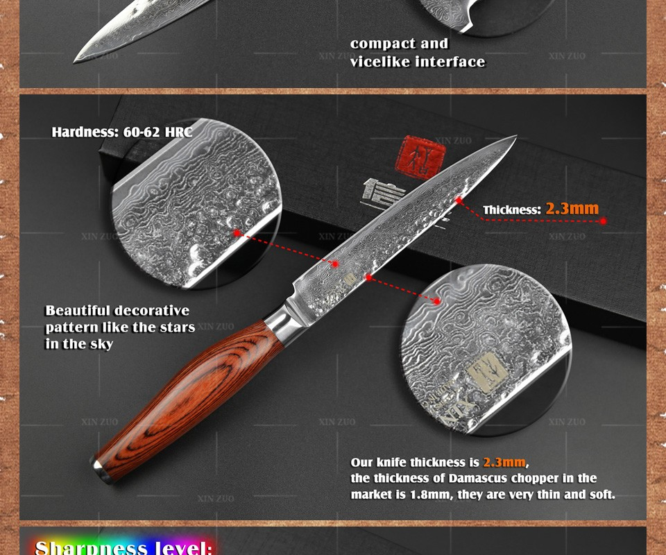 Buy 2 pcs kitchen knife set Japanese VG10 73 layer Damascus kitchen knife set chef utility knife hammer striae forging free shipping cheap