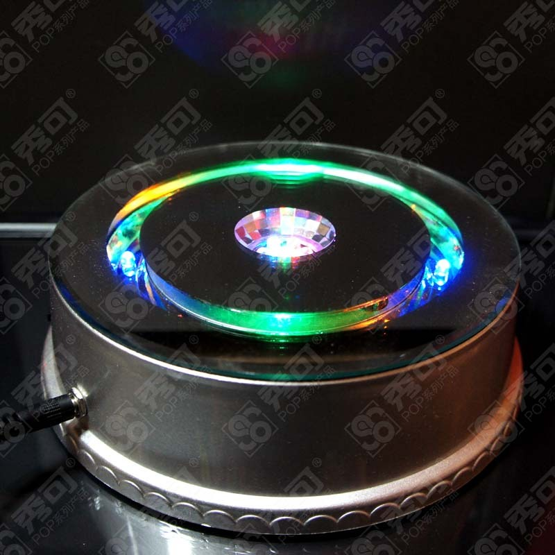 Free shipping CE / UL / CUL / PSE / ROHS Certification Electric rotating display stand turntable 15PCS LED 10kg Loding weight(China (Mainland))