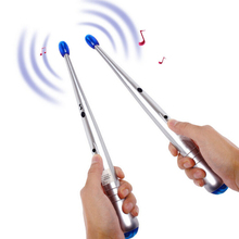 1 x Pair Electronic Air Drum Rock Beat Rhythm Stick Party Gimmick Musical  percussion instrument  for Kid Children Toy(China (Mainland))