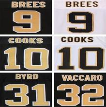9 drew brees shirts jersey 10 Brandin Cooks Kenny Vaccaro Marques Colston sttiched can mix order(China (Mainland))