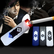 Summer Discount Fancy Stylish Creative Environmental Protection USB Electronics Charging Cigarette Lighter 75P9(China (Mainland))