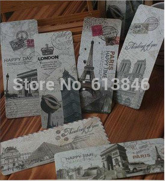 NEW vintage Paris memory Bookmark set/Cartoon Book marks(China (Mainland))