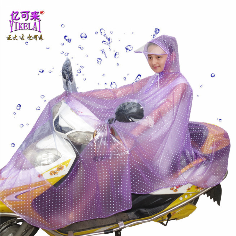 Printing Raincoat Cycling For Women Impermeable Poncho Feminino Rain Coat Motorcycle With Big Hood Women Hooded Raincoat(China (Mainland))