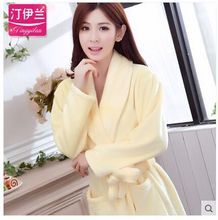 Pajamas,robe sleepwear,autumn and winter thickening,long-sleeve,flannel,bathrobe women's coral fleece lovers lounge(China (Mainland))
