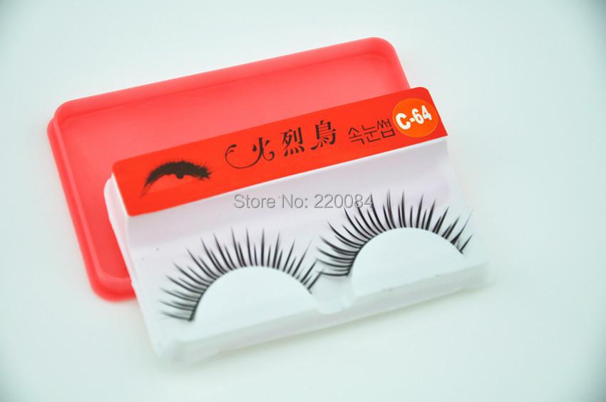 10 pairs M64 HUOLIE BIRD fake False Eyelash box makeup tool Black new - huankai luo's store