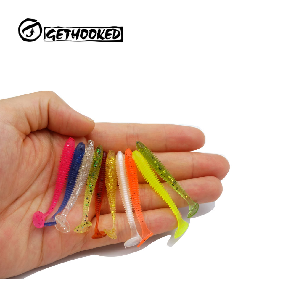 Pesca Artificial Lure 100pcs 0.6g/5cm for Japan Shad UL Fishing Worm Swimbaits Jig Head Soft Lure Fly Fishing Bait Fishing Lure
