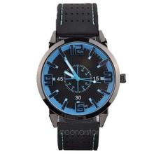 hot Excellent Fashion mens Retro Design Rubber Band Analog Alloy Quartz Wrist Watch Thinner New zx*MPJ579#c3