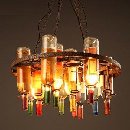 Retro Loft Style Bottle Droplight LED Pendant Light Fixtures Bar Hanging Lamp Vintage Industrial Lighting Lamparas Colgantes<br><br>Aliexpress