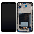 Black Touch Screen Digitizer LCD Display Assembly Frame For LG Optimus G2 D802 VA181 T18 0