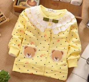 Верхняя одежда для ребенка с кружевом, 100% хлопок