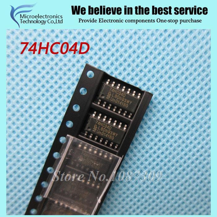 100pcs free shipping 74HC04D 74HC04 SN74HC04D SOP-14 Inverters Hex Inverter 2-6V 130 new original(China (Mainland))