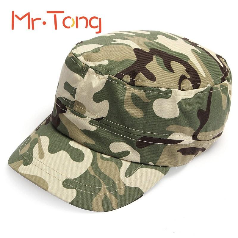 New Fashion Summer Kids Girls Boys Camo Camouflage Military Army Cadet Hat Flat Bill Sun Cap Children Outdoor Sports Hats Caps(China (Mainland))