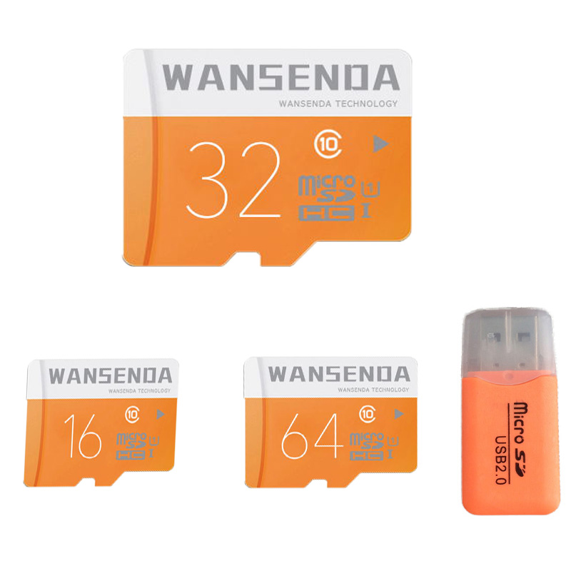 High Speed WANSENDA Memory Card Micro SD Card Class 6 Class 10 4g 8g 16g 32g 64g TF Card with Free Card Reader &amp; Adapter<br><br>Aliexpress