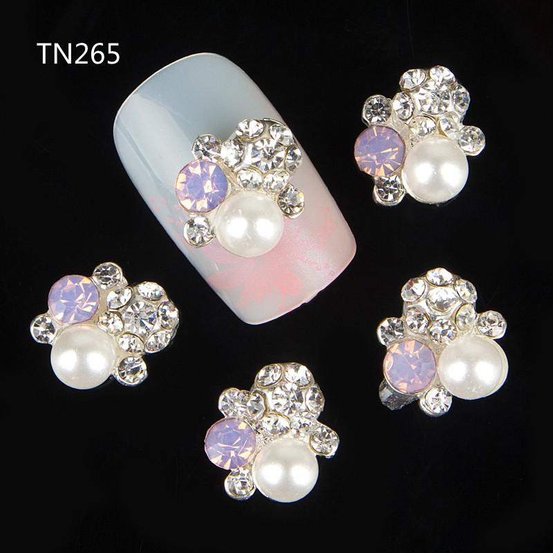 10pcs 3d alloy nail art studs rhinestone nail art jewelry decorations for manicure pearl gem design nail tool suppliers<br><br>Aliexpress
