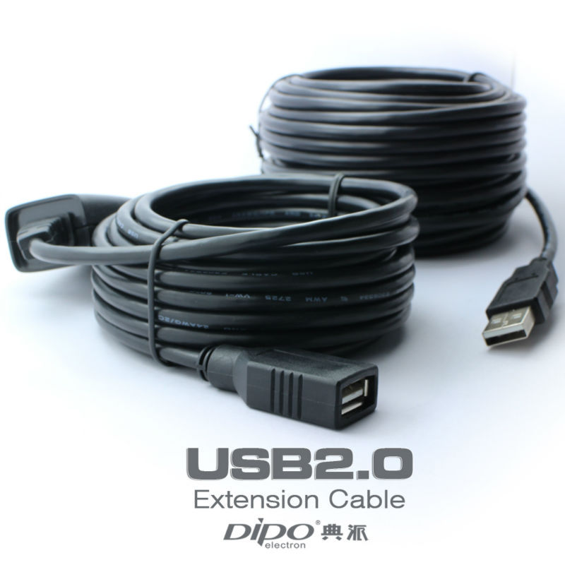 DIPO 20m USB extension cable AM to AF high speed usb2.0 cables with signal amplifier<br><br>Aliexpress