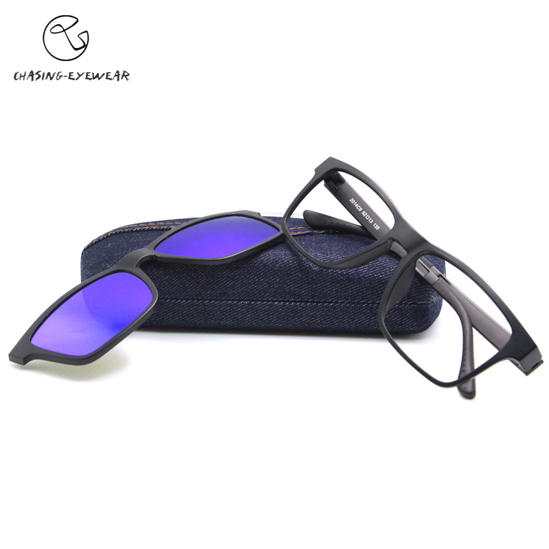 2016 Highest quality TR90 frame eyeglasses magnets pay two clip polarized sunglasses male myopia women men glasses frame CS2014SОдежда и ак�е��уары<br><br><br>Aliexpress