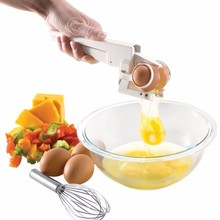 Delicate Selling Kitchen Gadget Tool Egg Cracker Separator Egg Separator Crack Eggs Hot Selling 11-652(China (Mainland))