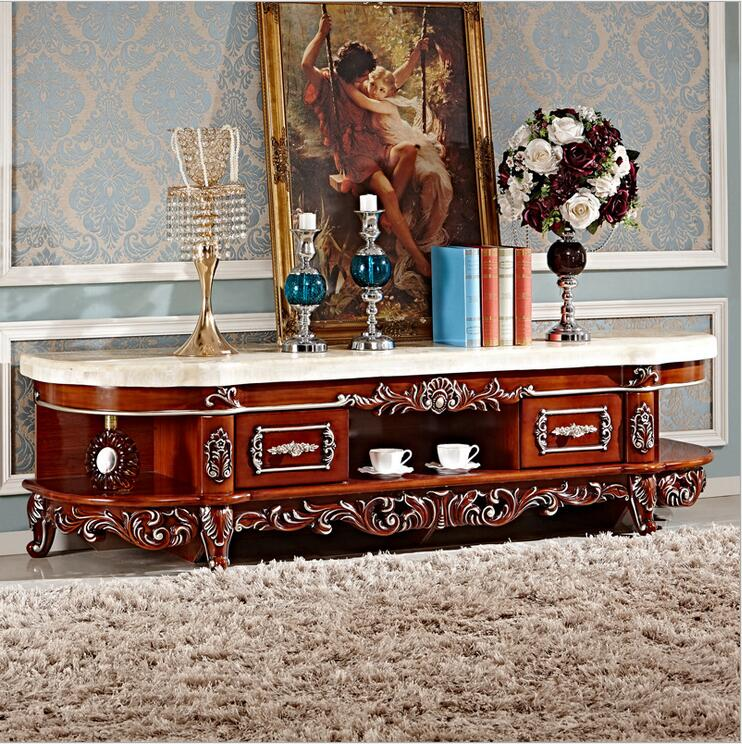 Antique High Living Room Wooden Furniture Lcd TV Stand Set Pfy3000 In Living