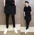 2016 Nightclub bar singer stage clothing fashion stylist male personality haroun pants rock divided skirts
