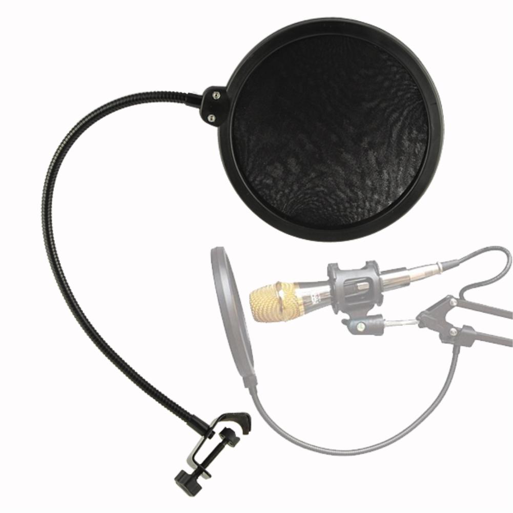 Microphone Pop Filter Singing Windscreen Shield Pod Cast Dual Double Layer Mask Anti Mic Metal Studio