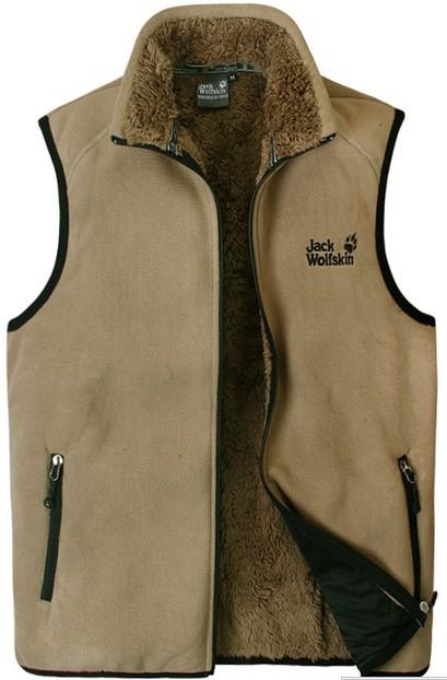 Genuine fleece Mens Fleece Vest outdoor thickening! 6 colors!  -  Online Store 214194 store