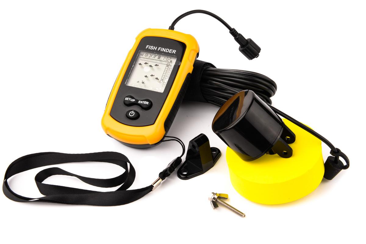 Portable sonar lcd fish finder alarm fishfinder transducer for Portable fish finder ice fishing