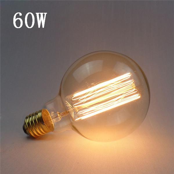 Hot Sale High Quality G95 E27 60W 220V Incandescent Bulb Retro Edison Light Bulb<br><br>Aliexpress