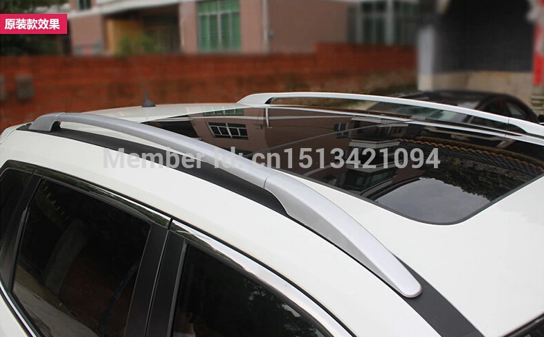Aluminium Alloy! Silver Roof Rack Side Rails Bars For nissan Rogue 2014 2015 / X-trail 2014 2015(China (Mainland))
