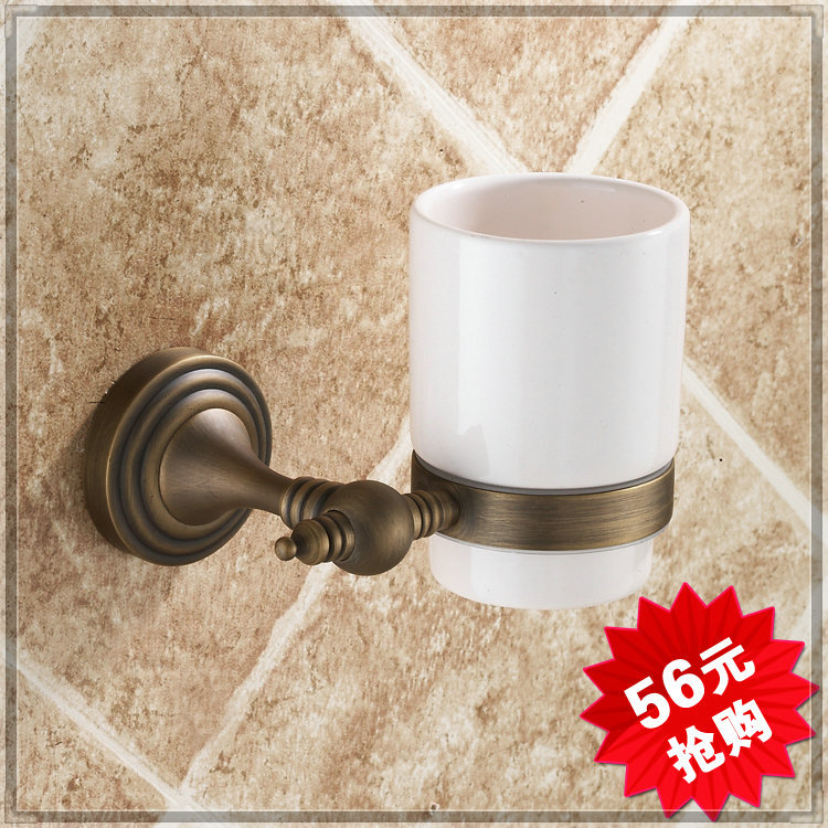 2014 Classic Cup & Tumbler Holders Single Cup Holders Ceramic Promotion Time-limited Bathroom Set Holder Brush Set Bathroom tap(China (Mainland))
