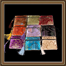 Quality Jewelry Silk Cotton Bags 11x11cm Mix Color Silk Tassels Pouches For Fashion Jewelry Packing 50pcs / Lot Free Shipping(China (Mainland))