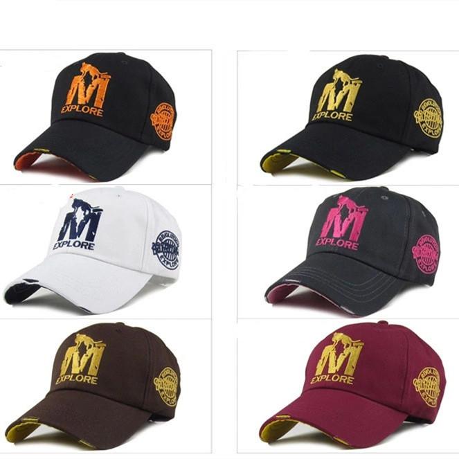 New 2015M Wolf embroidery fashion sun hat men women outdoor sports cap baseball cap tide Snapback Cap Wholesale(China (Mainland))