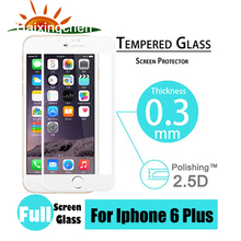 For iphone 6 plus 2.5D Premium Tougheded Tempered Glass Screen Protector with Full Coverage Edge Toughened Protective Film