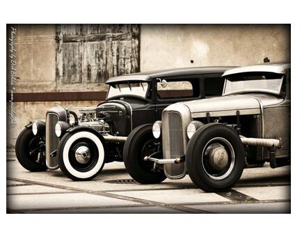 Old Car Custom Best Nice Stylish Classical Home Decor Fashionable Mondern Poster Size (50x76cm) Wall Sticker Free Shipping U1231(China (Mainland))